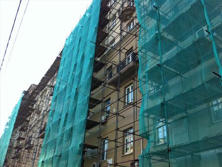 фасадная сетка в Томске, аренда фасадной сетки в Томске